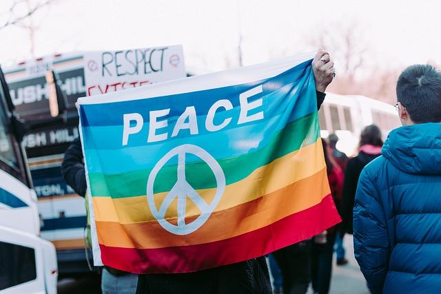 Protestierende Menschen